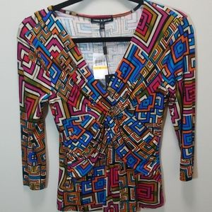 Jewel Tone Cable & Guage NWT Small Top